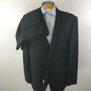 Laurentino mens suit 48r solid charcoal nwt ea0261